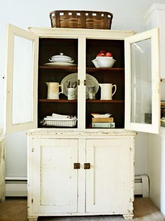 An antique kitchen hutch is a piece of furniture both functional and of  great art value, it can add a cute charm to any kitchen. - Antique Kitchen Hutch Kitchens Designs Ideas