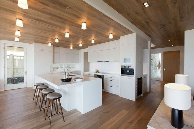 White kitchen island, 30 photo