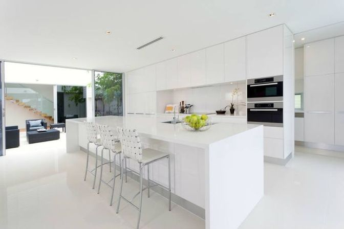 Modern white kitchen, 30 photo