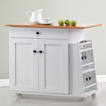 White kitchen cart, style and photo