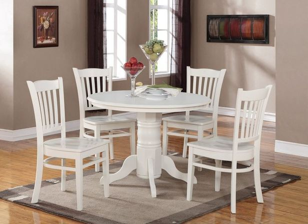 White kitchen table, tips and photo