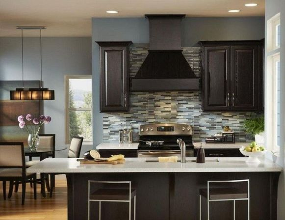 Modern kitchen base cabinets