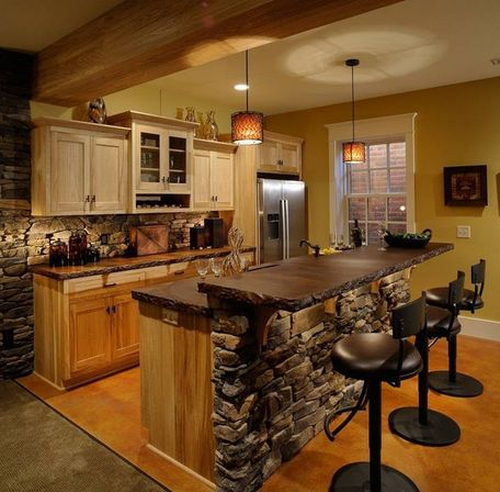A few words about the materials and country kitchen islands