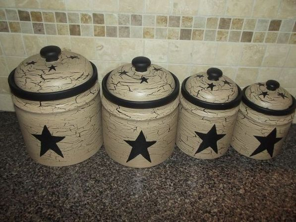 How to decorate country kitchen canisters