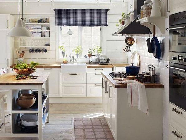 Country kitchen curtains ideas: views