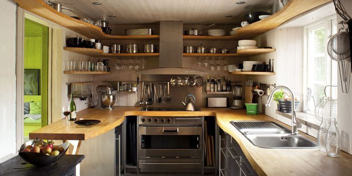 Ideas for a small kitchen. Colours