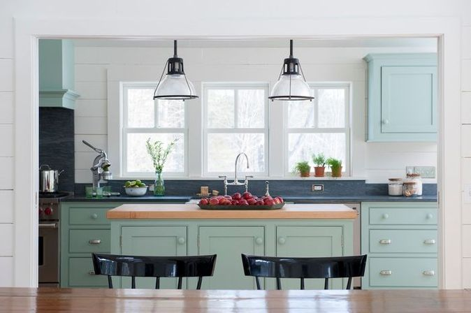 Farmhouse kitchen lighting: ideas for interior