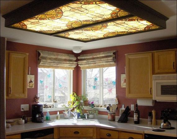 Fluorescent kitchen light fixtures: types and characteristics of choice
