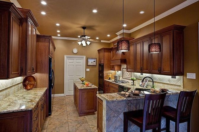 Kitchen ceiling lights: how to make a cozy room