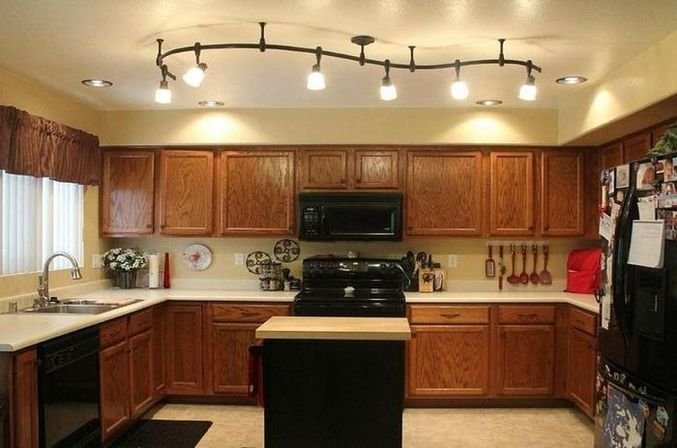 kitchen track lighting ideas: main rules and basic principles
