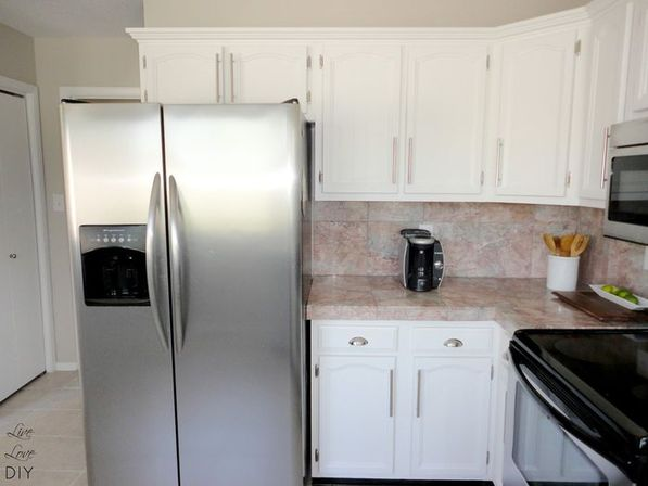 Refinishing kitchen cabinets white, 16 foto
