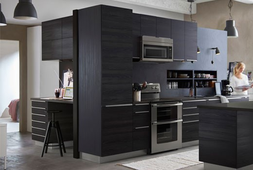 dark wood kitchen (elegant and compact) Metod Tingsryd is the perfect option for you