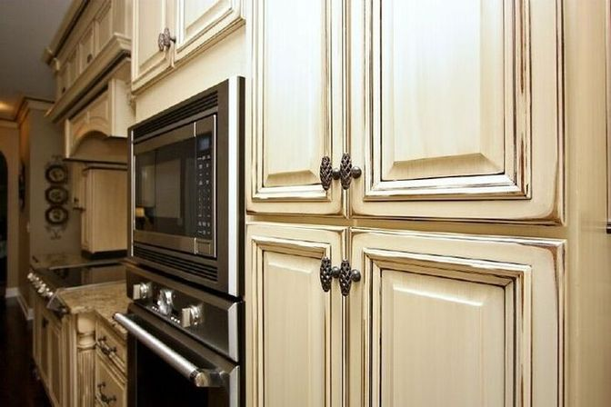 Glazed kitchen cabinets kitchens designs ideas - How to glaze kitchen cabinets cream ...