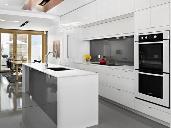 White kitchen: tips, 20 photo