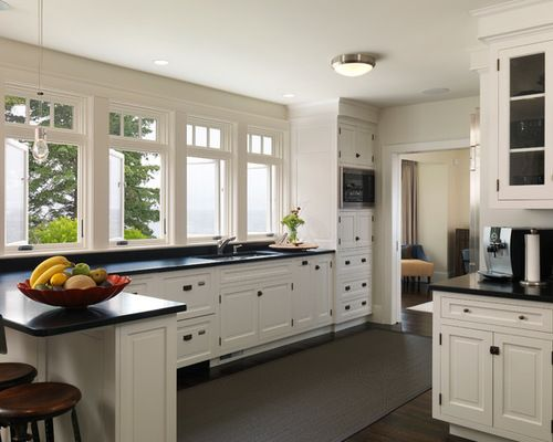 White Kitchen Cabinets. White Kitchen Cabinets With Black Countertops ... Awesome Ideas