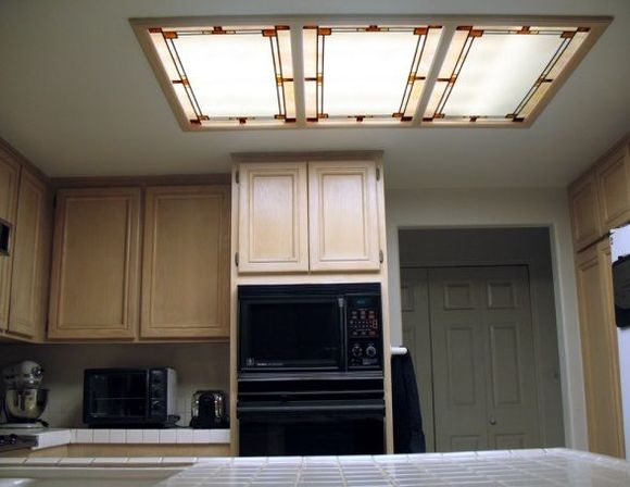 fluorescent kitchen light fixtures types and. Black Bedroom Furniture Sets. Home Design Ideas