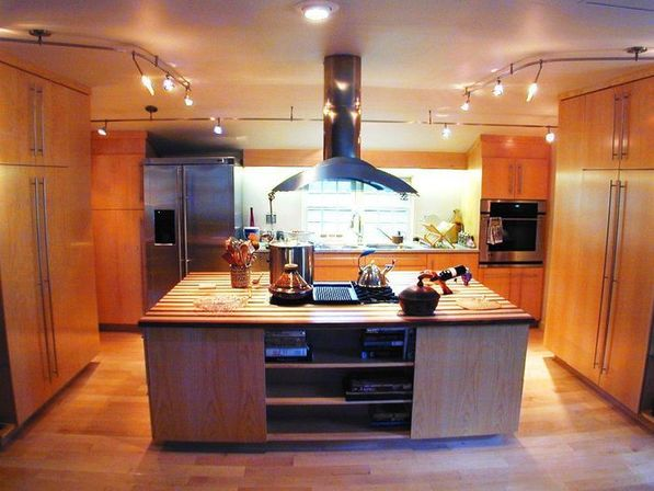 kitchen with track lighting. Track Lighting Kitchen: How To Make A Choice Kitchen With