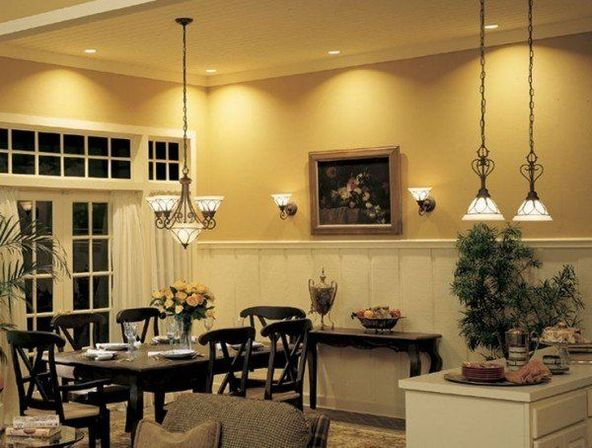 Classic Version Incandescent Lamps Have Low Efficiency And Short Service Life When Creating A Lighting Project In The Kitchen Consider Color Of