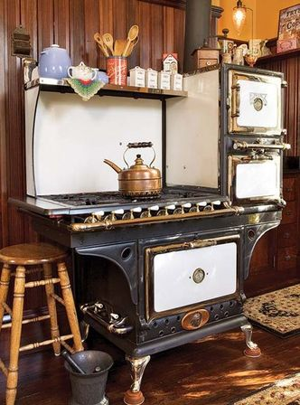 If To Trace History Of Kitchen Stoves, Earlier Samples Were Usually Made Of  Cast Iron And Operated On Coal Or Wood; By 1800s Special Shelves Were Added  So ...