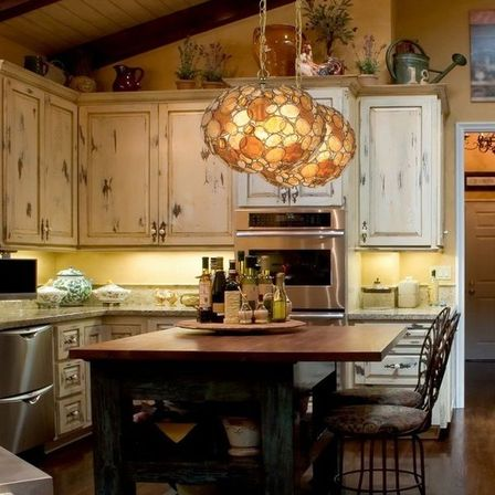 If The Kitchen In Country Style Is Not Located In A Country House And In An Apartment And More Stylized In A Rustic Interior Then Instead Of The Heavy Wood