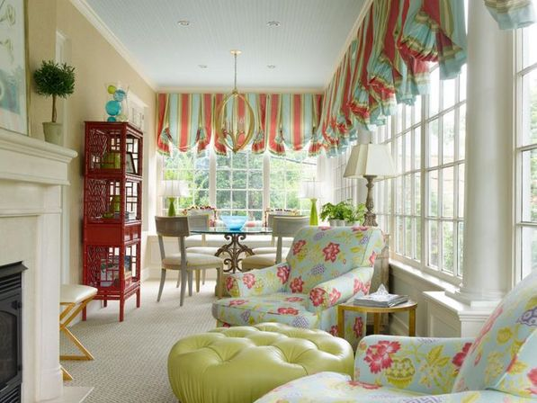 Color compromises in country kitchen valances