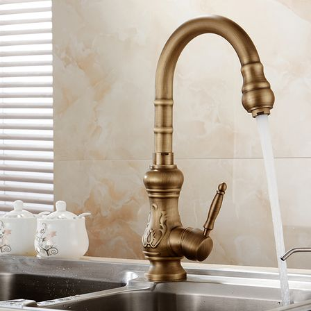 with retro being such a trend recently many wellknown plumbing producers offer a huge variety of antique brass kitchen faucets