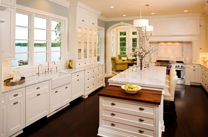Antique White Country Kitchen antique white kitchen cabinets, photo | kitchens designs ideas