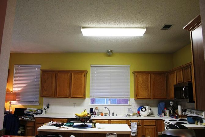 Fluorescent Kitchen Light Fixtures Types And