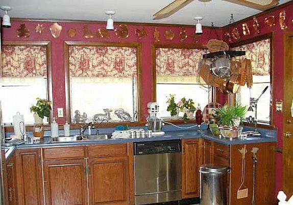 Country kitchen curtains ideas views kitchens designs ideas for Country kitchen curtain ideas