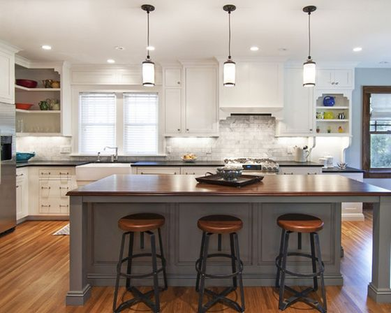 Glass pendant lights for kitchen island kitchens designs ideas - Kitchen island ideas ...