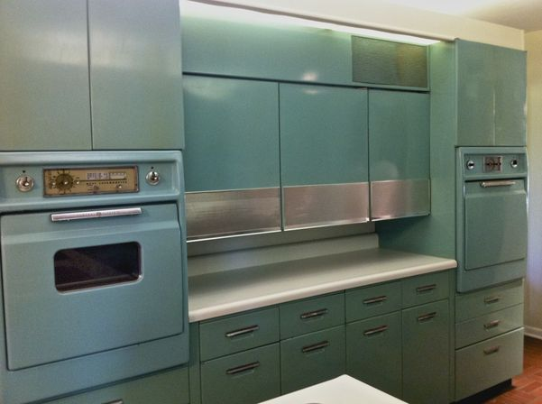 beautiful Antique Metal Kitchen Cabinets #3: What types of vintage kitchen cabinets exist?