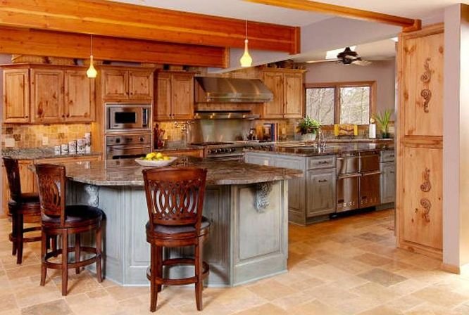Best Pine Kitchen Cabinets: Original Rustic Style