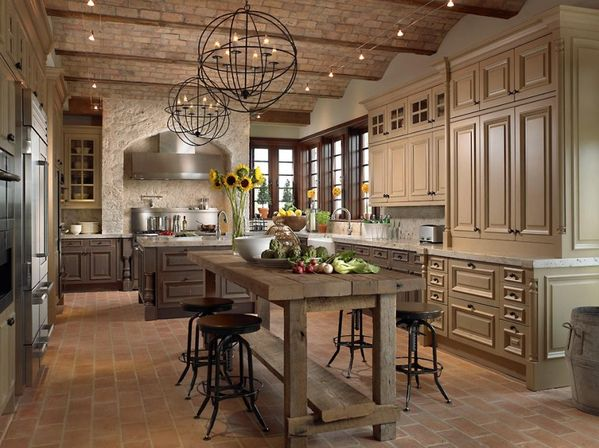 Country french kitchen design ideas kitchens designs ideas for Normal kitchen design