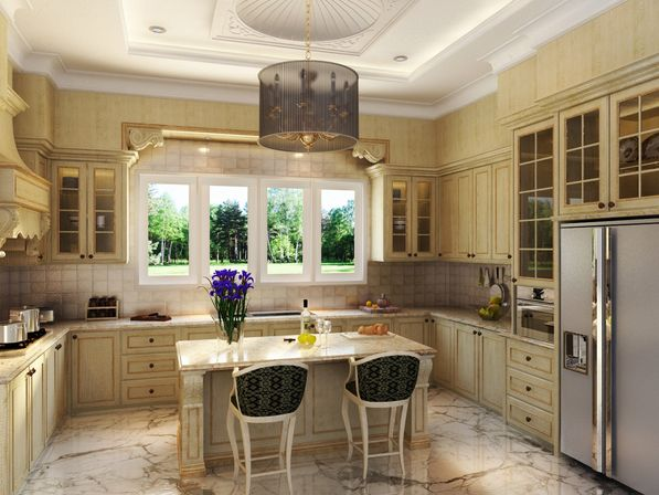 antique white country kitchen cabinets