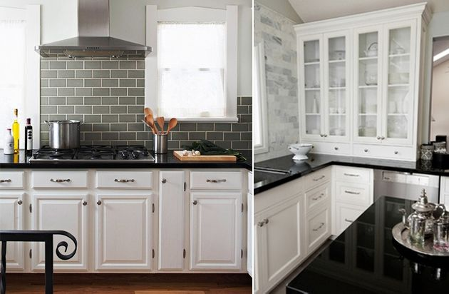 Elegant White Kitchen Cabinets With Black Countertops It Already The Classics Of  Interior Genre Are A Decision Universal And Strict Enough Going Near Modern Part 5