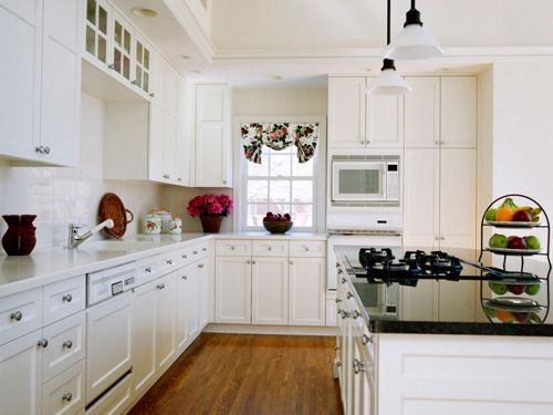 White Kitchen Appliances white kitchen cabinets with white appliances, tips and photo