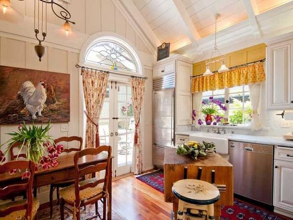 country kitchen curtains ideas views kitchens designs ideas - Country Kitchen Curtain Ideas