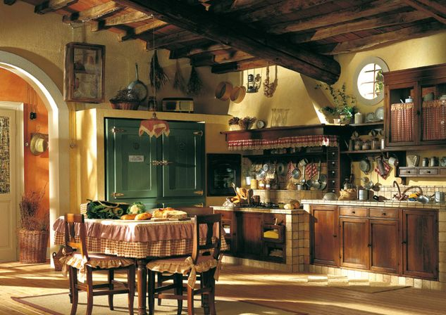 Comfortable Home Old Country Kitchens