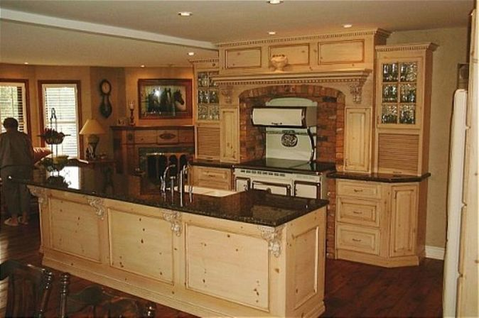 Pine Kitchen Cabinets Original Rustic Style Kitchens Designs Ideas