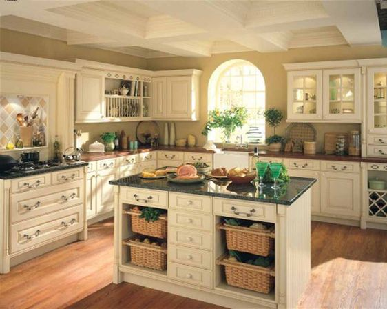 the basic layout of narrow kitchens - Kitchen Design Ideas With Island