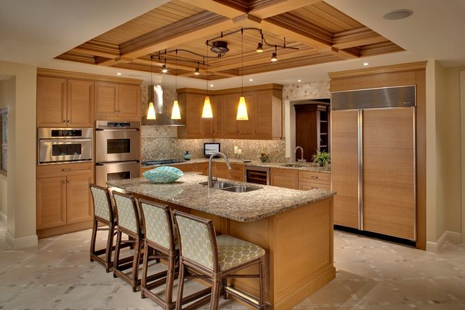 Kitchen track lighting ideas: main rules and basic