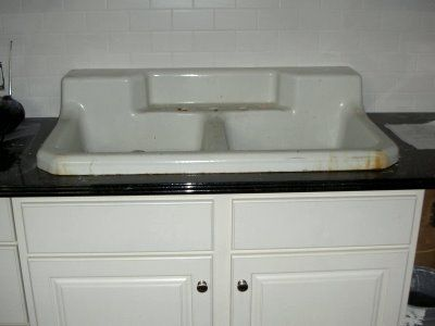 Antique kitchen sinks: warmth of natural materials | Kitchens ...