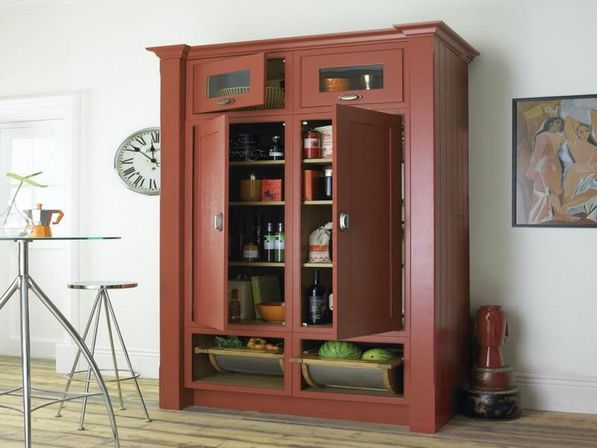 Free Standing Kitchen Storage Ideas Part - 33: How To Store Things In Kitchen Pantry Storage Cabinet?