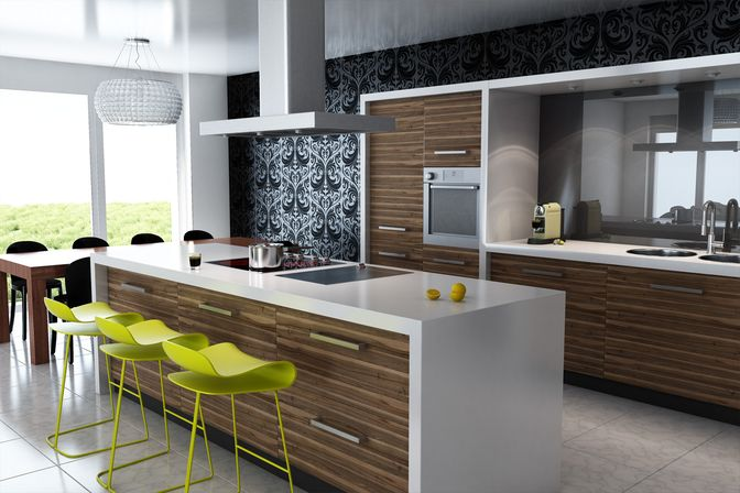 Charming Kitchen Ideas Modern Part - 6: Great Plan To Make Modern Kitchen