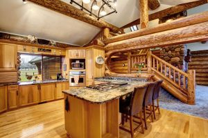 Log Cabin Kitchens (Cabinets & Ideas)