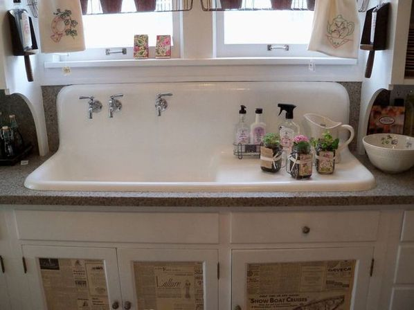 Antique Kitchen Sinks: Warmth Of Natural Materials