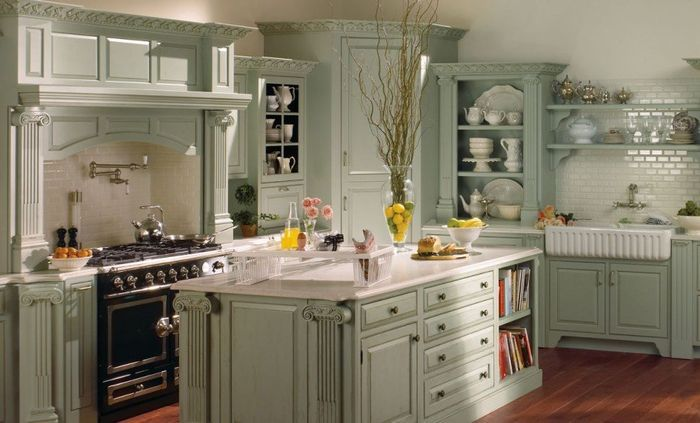 Country french kitchen design: ideas
