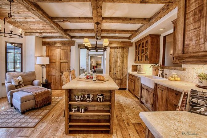 Rustic country kitchen in modern world