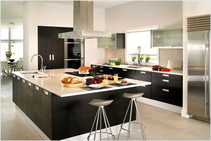 They Can Be Covered With Textiles Or Leather Color Curtains In European  Kitchen Design Ideas.