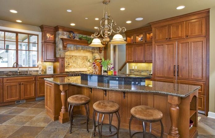 Natural Colors In The Tuscan Kitchen Design